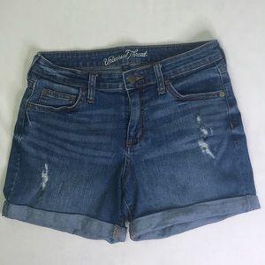 Universal Thread Distressed Cuffed Jean Shorts